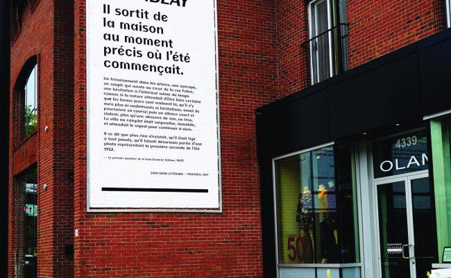 Projet Saint-Denis littéraire 375e de MTL_Murale litréraire